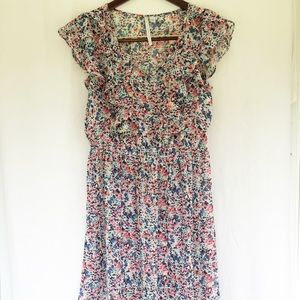 LC Lauren Conrad Pleated Floral Dress